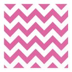 Bright Pink Chevron Luncheon Napkins 33cm - 12 PKG/16