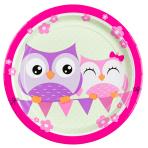 Owls Paper Plates 23cm - 10 PKG/8