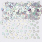 Sparkle Hearts Iridescent Metallic Confetti 14g - 12 PC