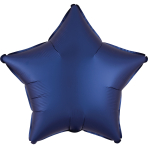 Navy Star Satin Luxe Standard HX Packaged Foil Balloons S15 - 5 PC