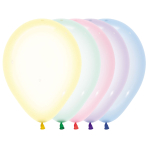 "Crystal Pastel Assorted Colour Latex Balloons 5""/13cm - 100 PC"