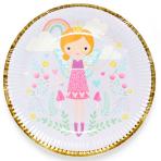 Fairy Princess Paper Plates 23cm - 6 PKG/8