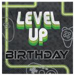 Level Up Luncheon Napkins 33cm - 12 PKG/16