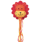 Lion Pull Pinatas - 4 PC