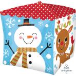 "Cubez Snowman & Santa Foil Balloons 15""/38cm G20 - 5 PC"