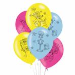 "SpongeBob SquarePants Latex Balloons 11""/27.5cm - 6 PKG/6"