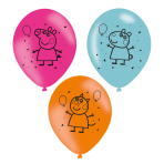 Peppa Pig Printed Latex Balloons 27.5cm - 6 PKG/6