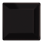 Black Square Paper Plates 25cm - 6 PKG/20