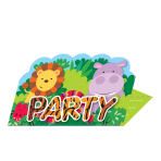 Jungle Friends Stand-up Invitations - 6 PKG/8