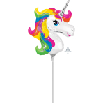 Unicorn Mini Shape Foil Balloons A30 - 5 PC