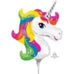 Unicorn Mini Shape Foil Balloons A30 - 5 PC