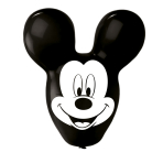 """Mickey Mouse Giant Ears Balloons 4 Sided Print 22""""/55.8cm - 6 PKG/4"""