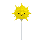 Iridescent Sun Mini Shape Foil Balloons A30 - 5 PC
