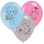 "Moon and Me 4 Sided Latex Balloons 11""/27cm - 6 PKG/6"