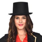 Satin-look Top Hats - 6 PC