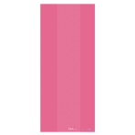 Pink Large Plastic Party Bag 29cm h x 12.5cm w - 12 PKG/25