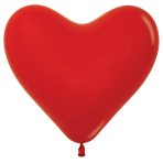"Fashion Colour Heart Solid Assorted Latex Balloons 6""/15cm - 100 PC"