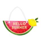 Hawaiian Hello Summer Mini Fruit Message Signs 19cm x 8cm - 12 PC