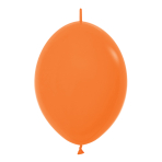 "Fashion Colour Link-O-Loon Solid Orange 061 Latex Balloons 6""/15cm - 100 PC"