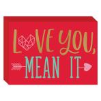 Love You, Mean It Standing MDF Plaque 17.7cm x 12.7cm x 3cm - 9 PC