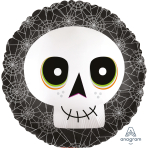 Halloween Satin Infused Skull Standard Foil Balloons S40 - 5 PC