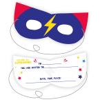 Superhero Mask Invitations - 6 PKG/8