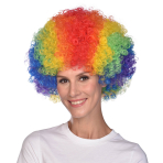 Rainbow Afro Wigs - 6 PC