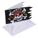 Jolly Roger Invitations & Envelopes - 10 PKG/6