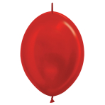 "Metallic Link-O-Loon Solid Red 515 Latex Balloons 6""/15cm - 100 PC"