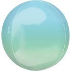 """Ombre Blue & Green Orbz Foil Balloons 15""""/38cm w x 16""""/40cm h G20 - 5 PC"""