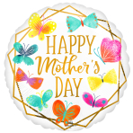 Happy Mother's Day Gold Trim Standard XL Foil Balloons S40 - 5 PC