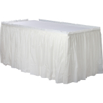 Frosty White Plastic Table Skirts 4.26m x 73cm - 6 PC