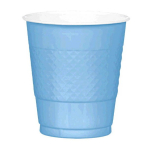 Powder Blue Plastic Cups 355ml- 10 PKG/20