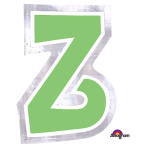 Personalised Letter: Z Stickers - 48 PC