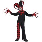 Teens Krazed Jester Clown Costume - Age 12-14 Years - 1 PC
