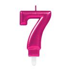 Pink Metallic Finish Candles #7 - 12 PC