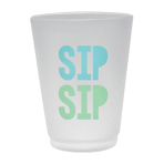 Shimmering Party Frosted Plastic Cups - 6 PKG/8