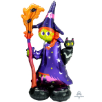 "Scary Witch AirLoonz Large Foil Balloons 24""/60cm x 55""/139cm P70 - 3 PC"