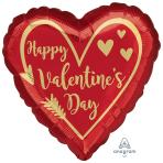 "Arrow Heart Jumbo HX Foil Balloons 28""/71cm w x 28""/71cm h P32 - 5 PC"