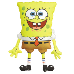 "SpongeBob SquarePants SuperShape Foil Balloons 22""/56cm w x 28""/71cm h P35 - 10 PC"