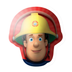 "Fireman Sam Head SuperShape Foil Balloons 23""/60cm h P38 - 5 PC"