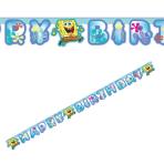 SpongeBob Happy Birthday Letter Banners - 10 PC