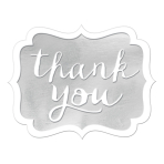 Silver Thank You Stickers - 12 PKG/50