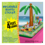 Hawaiian Inflatable Tropical Palm Coolers 0.6m x 1.2m x 0.9m - 3 PC