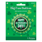 St. Patrick's Day Big Fun Badges 7.6cm - 12 PC