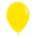 "Fashion Colour Solid Yellow 020 Latex Balloons 15""/40cm - 50 PC"