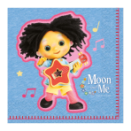 Moon and Me Luncheon Napkins 33cm - 6 PKG/16