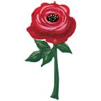 """Painted Rose Multi Foil Balloons 33""""/83cm x 62""""/157cm h P70 - 3 PC"""
