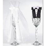 Bride & Groom Stemware  - Glasses Not Included - 22.8cm 10 PC