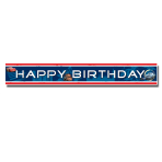 Cars Happy Birthday Foil Banners 4.65m - 6 PC